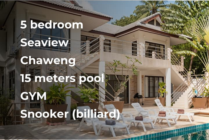 5-br Seaview Chaweng, 13-meters private pool