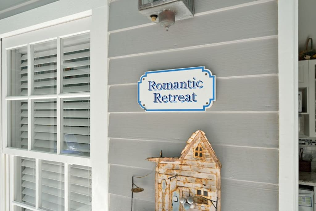 Entrance to Romantic Retreat.  The historic cistern from the 1880's.