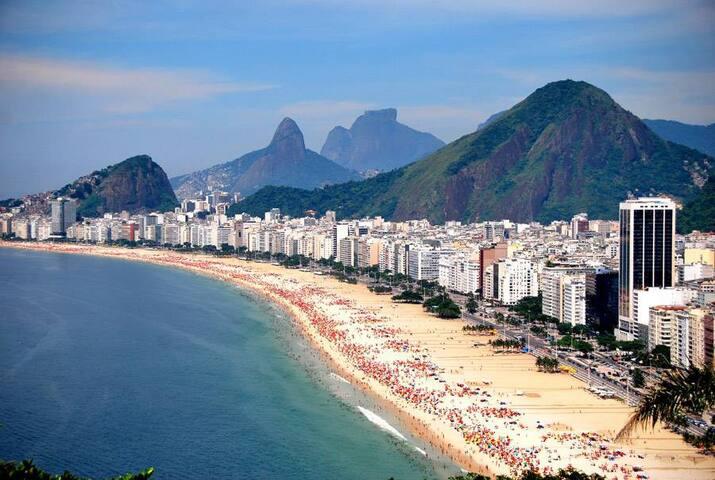 Kitinete Leme/Copacabana há 7 minutos da praia