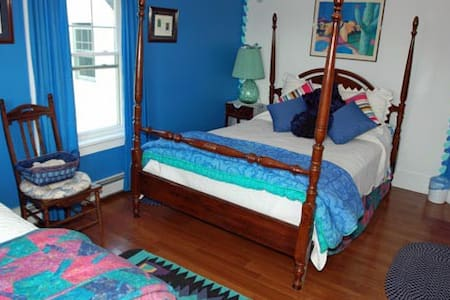 The Lapis Lazuli Bedroom-Bold Colorful Life Estate - Boothbay