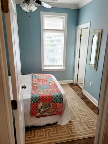 Third floor bedroom.....sofa bed...with private separate full private bathroom.