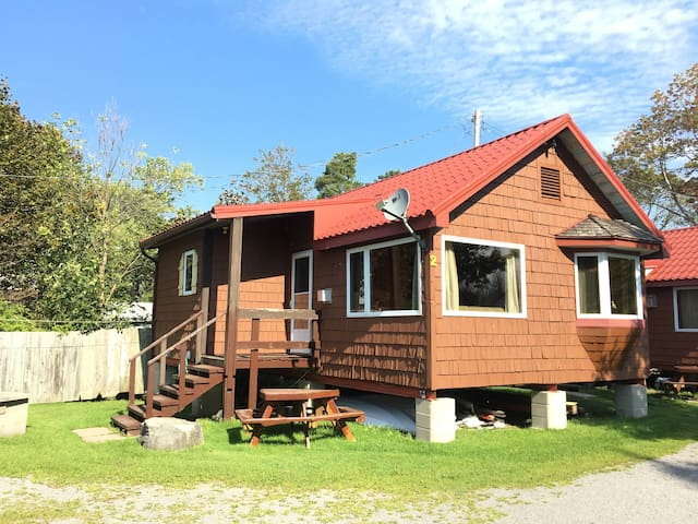 This is your cottage! Plenty of space to hang out outside.