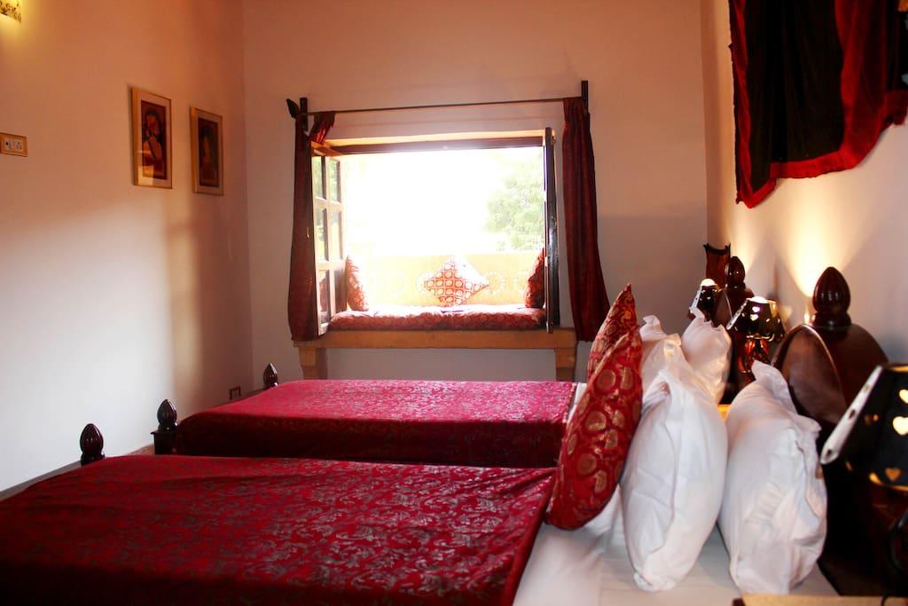 The Room with the Jharokha overlooking the Street near Patwaon Ki Haveli