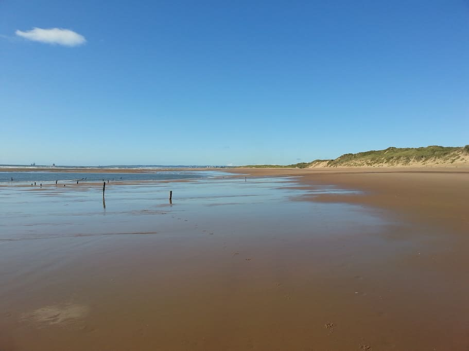 Balmedie beach and country park.