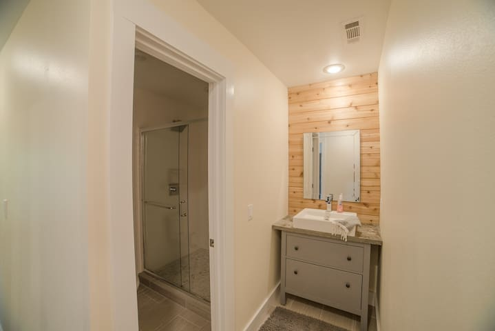 "2nd full bathroom with separate vanity and ""wet areas"""
