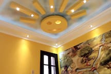 * Rich Decoration * 6 Level Of Lighting with many Colours (White, Warm, Blue ) * You Can turn off & On Which light you like.