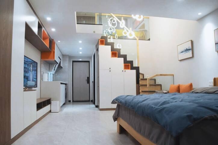 【星宿】精装北欧复式loft公寓 安泰国际广场  大学城/东夷小镇/海洋公园/万象汇 商务 家庭