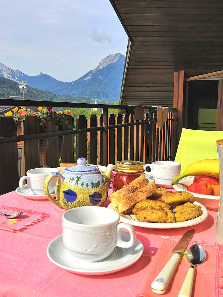 flat in the heart of the Dolomites