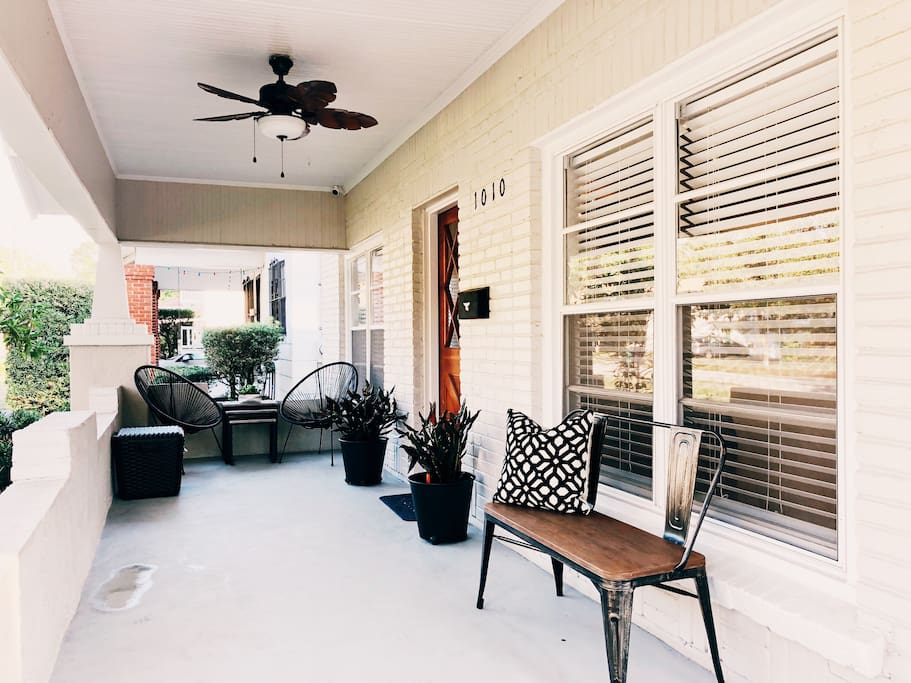 Front Porch: Take in the sounds of the city while enjoying your morning coffee.