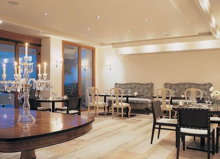 R839 Three Bedroom  Villa with Sea & Jacuzzi Pool Views Free Half Board
