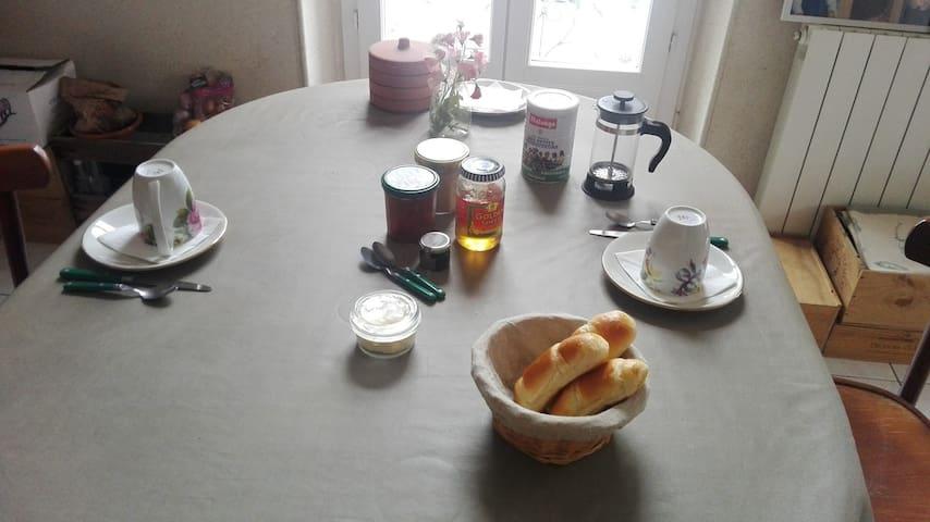 Petit déjeuner en libre service