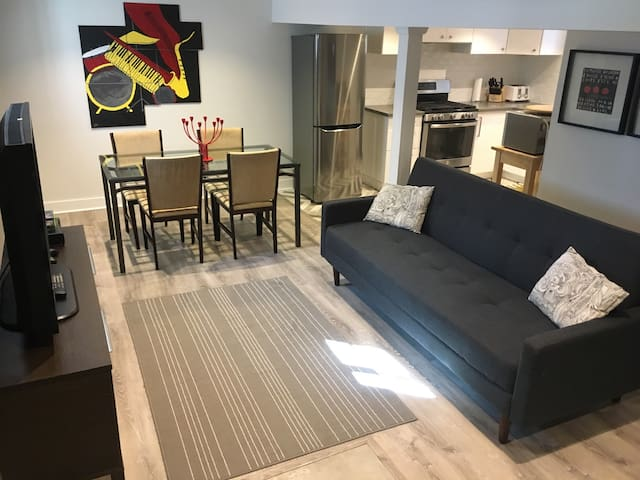 Bright and spacious basement apartment! - Toronto - Pis