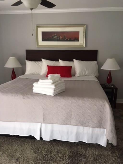 Cozy, Comfortable Bedroom