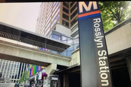 7 mins walk to Rosslyn Metro Station