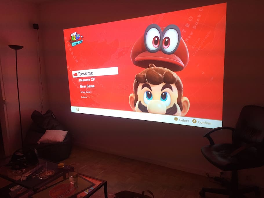 A 10 foot display for movie / game nights