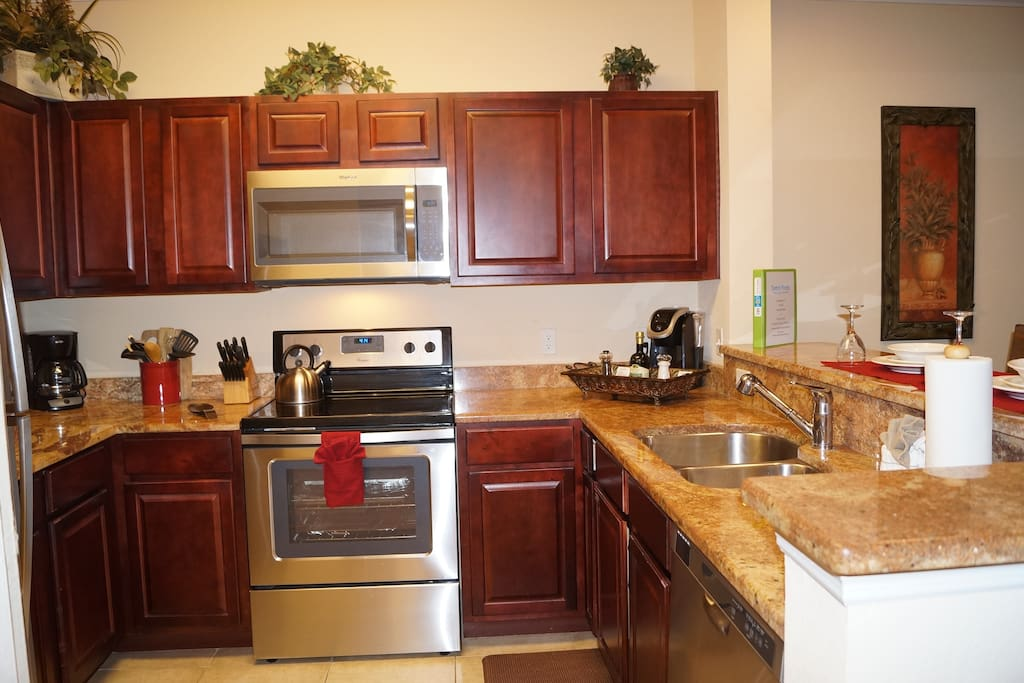 Kitchen with new appliances added May 2017.