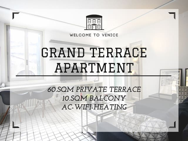 Rooftop Terrace Venice Rental: WIFI/AC near Rialto