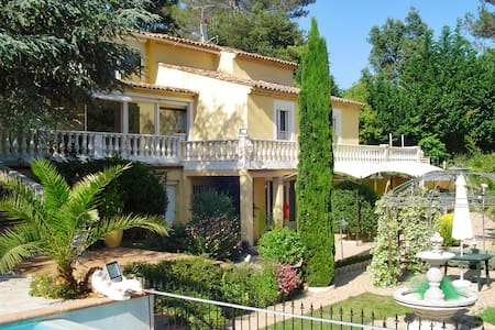 Stunning villa with pool and garden - Roquefort-les-Pins