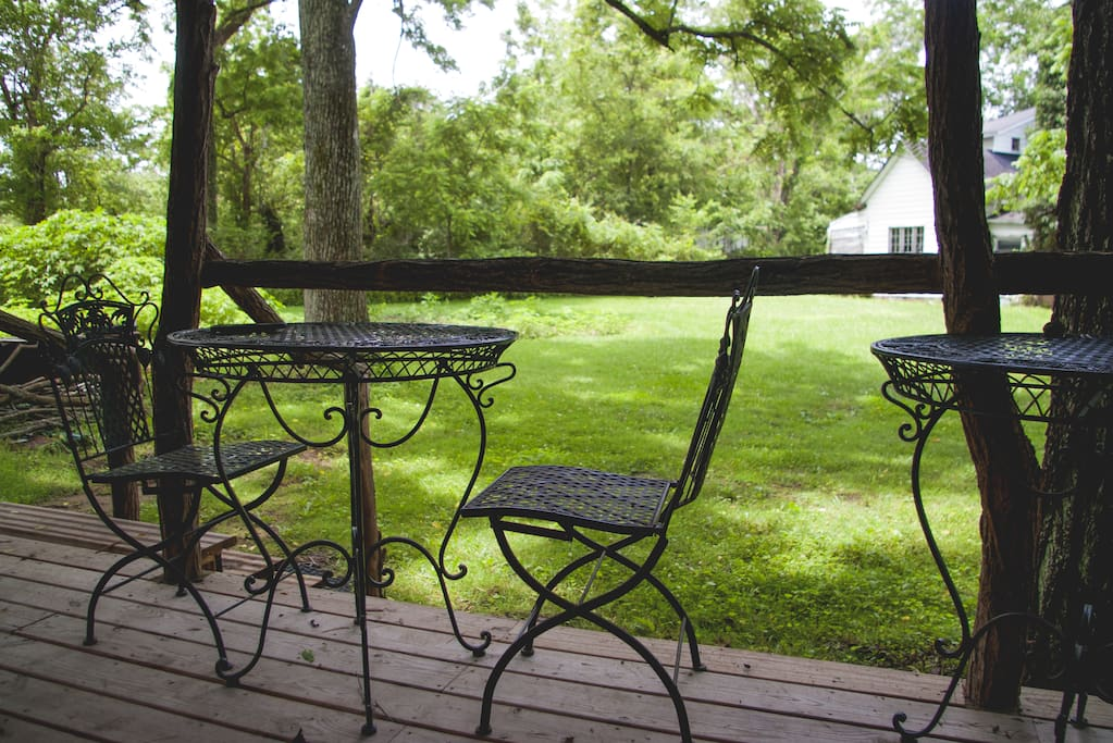 Lawn and side campfire area available to guests!