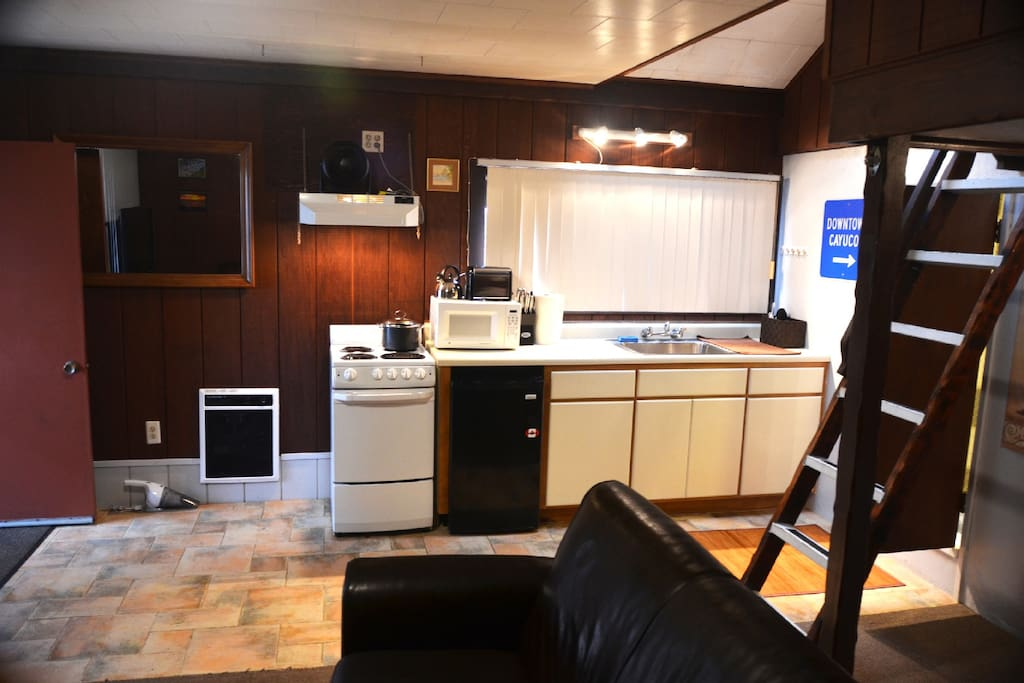 kitchen and heater