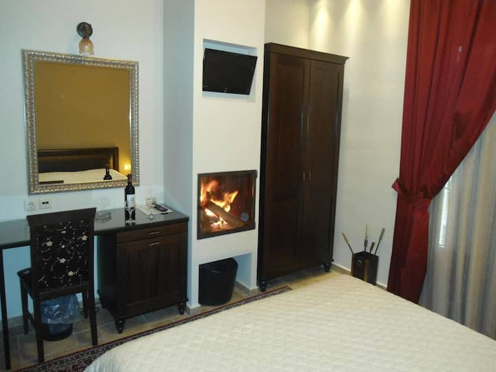Comfortable Double Hotel Room with Fireplace