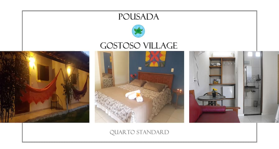 Pousada Gostoso Village - Chalé Standards com Cama Queen-size