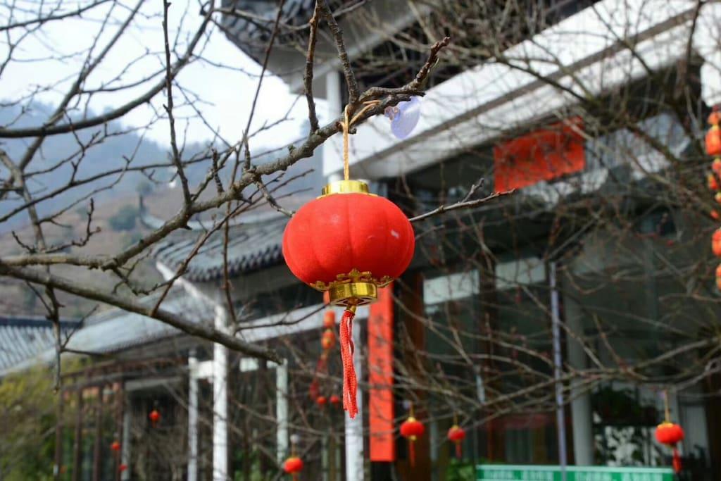 冬日里的红灯笼