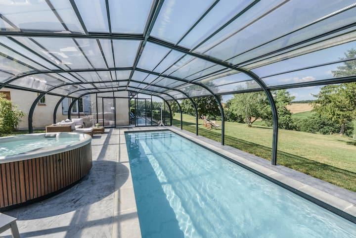 La petite Oasis, jacuzzi sauna piscine chauffée