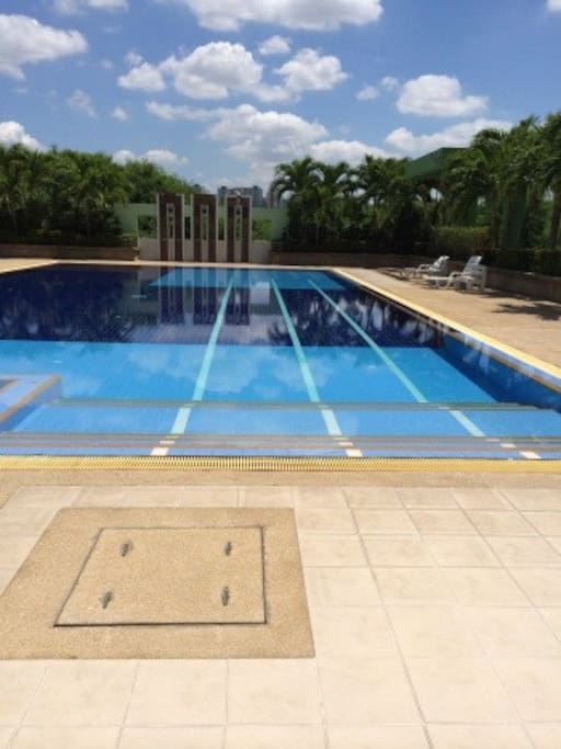 Large swimming pool for adult and children.