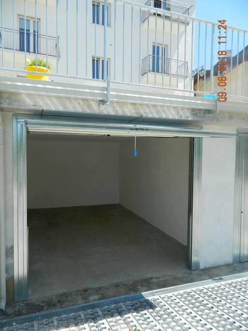 Il garage a disposizione degli ospiti