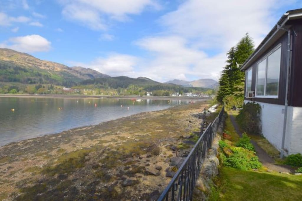 Tidal sea loch - the tide comes in up to the wall