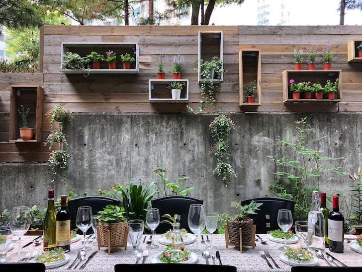 [Terrace BBQ party + Accommodation]  Mapo, Seoul