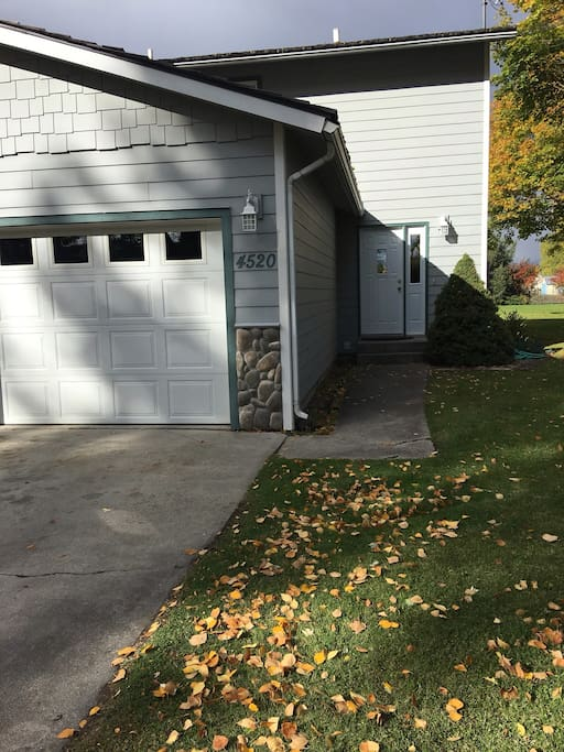 Garage and outdoor entry way.
