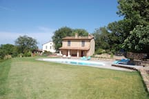 The holiday house with garden and pool