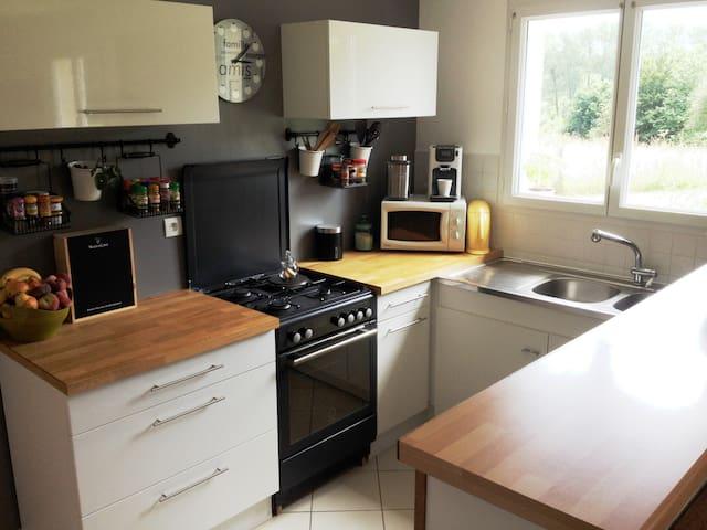 Maison 80m2 centre de la Manche proche des plages - Le Lorey - Casa