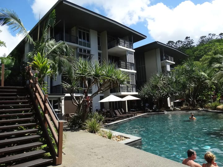 """""""Rainforest Retreat"""" just minutes from the beach."""