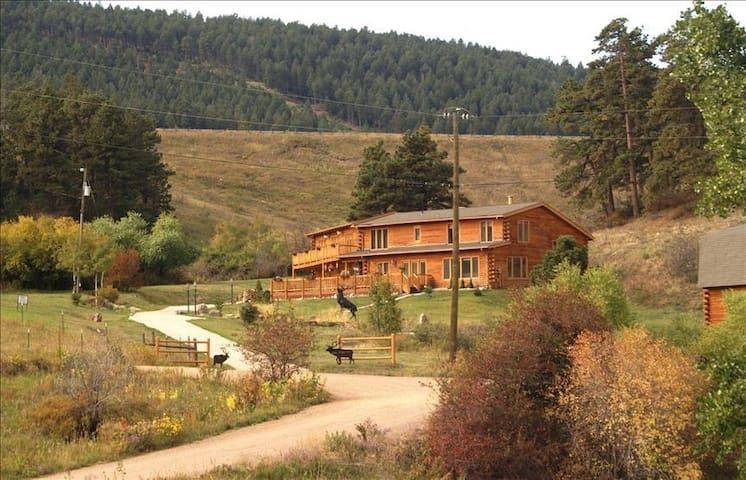 Buckhorn  Exchange Ranch Lux Log Home in Foothills