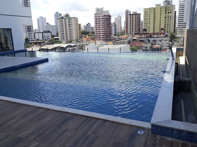Flat top piscina, prox  Praça Batista Campos Belém