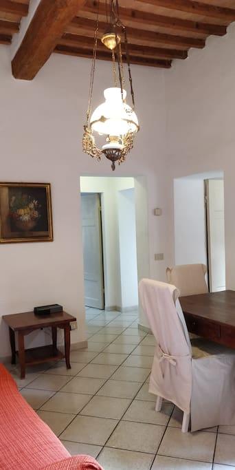 Ingresso soggiorno con accesso al terrazzo