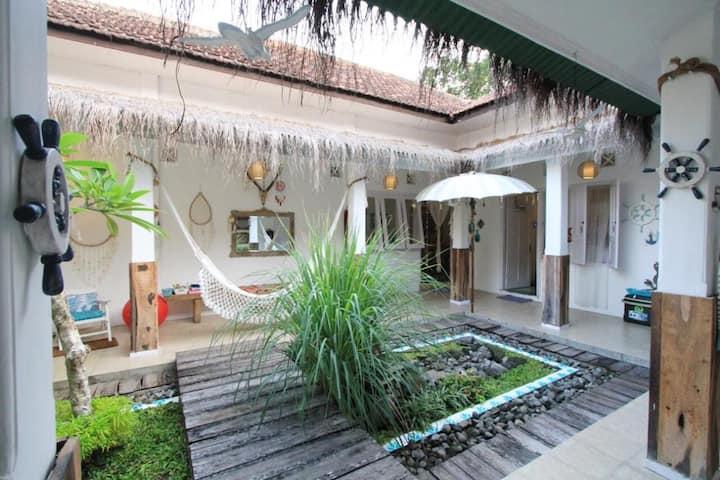 WabiSabi House Jogja; Artsy Cozy Hideaway with 4BR