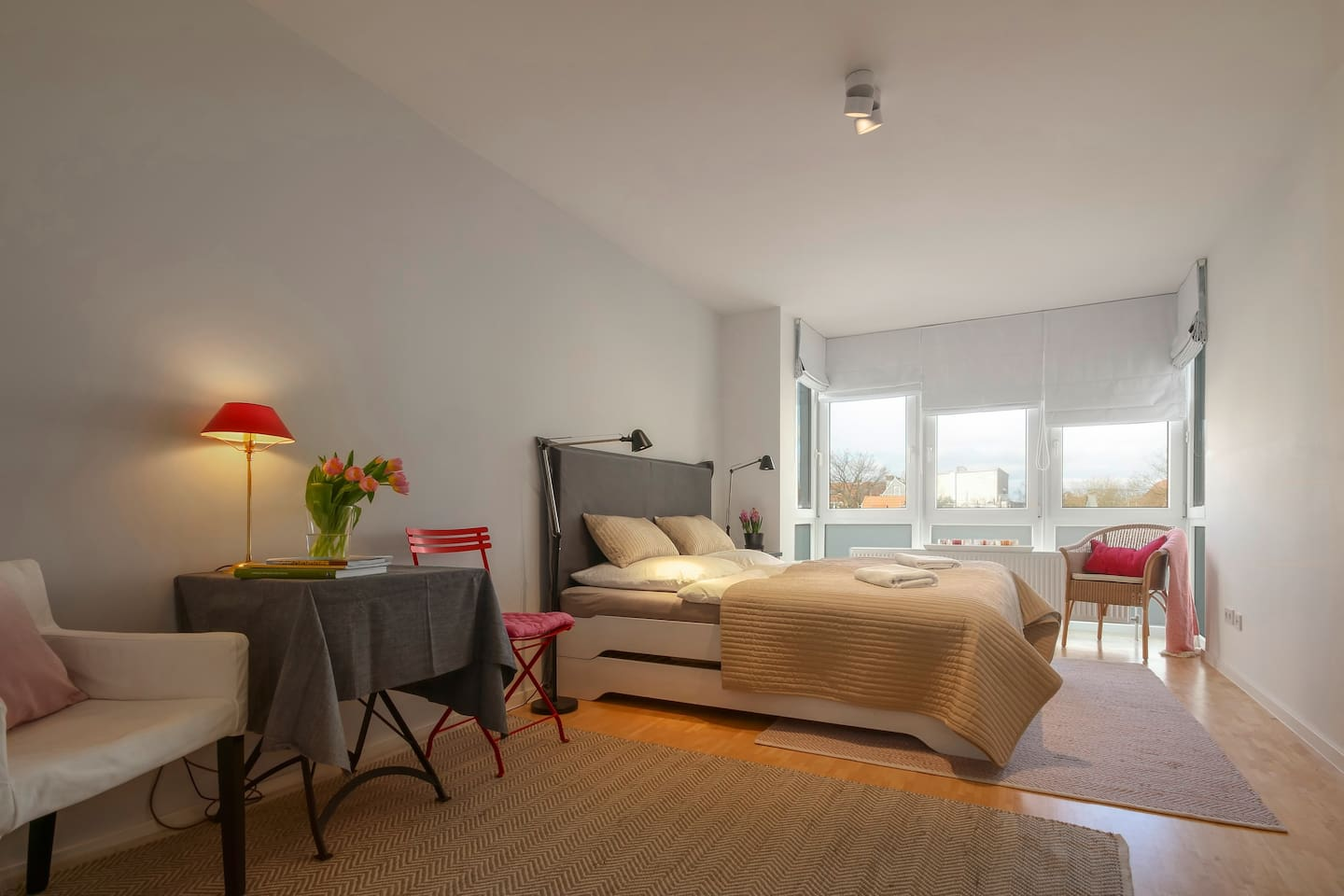 Guest room: 4 beds built as a double bed