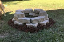 Firepit for your use along with full backyard and patio.