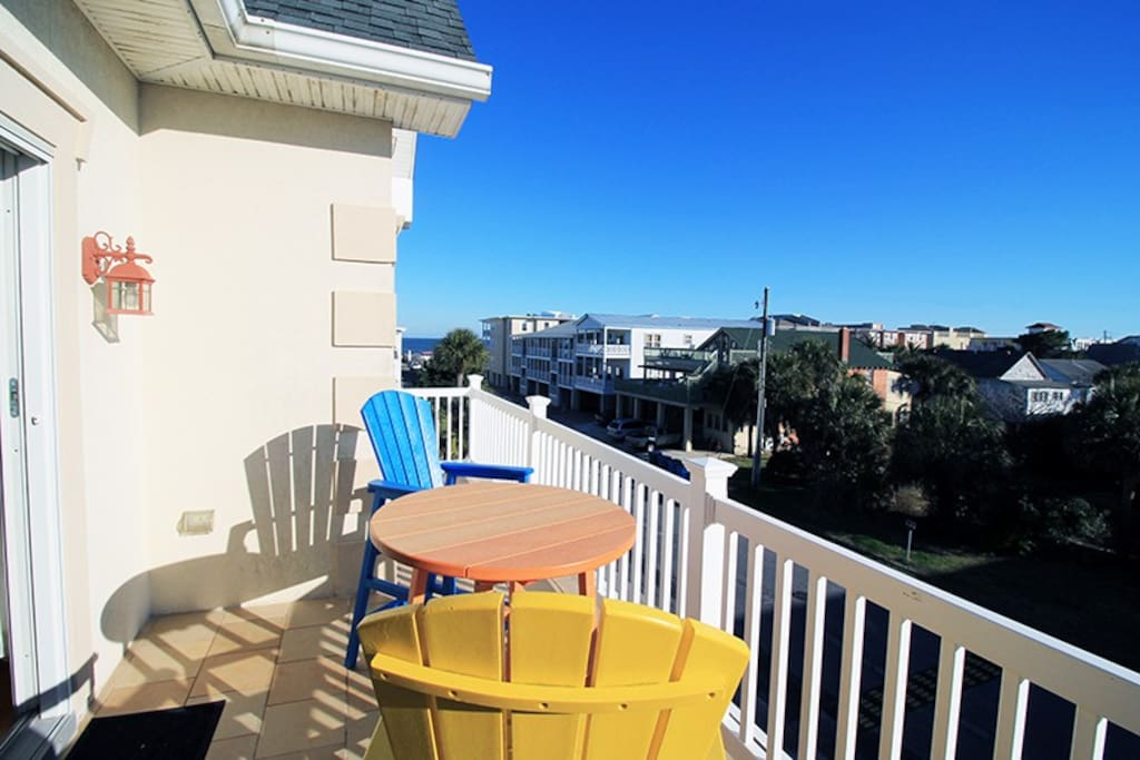 Private Balcony off of the Master Bedroom