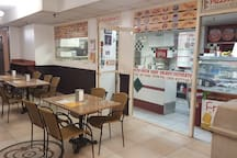 Pizzeria at the lower lobby