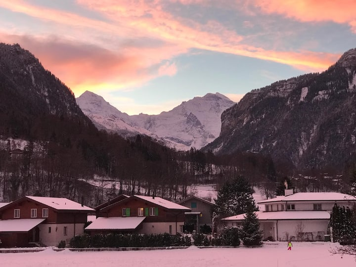 Studio mit Blick auf die Jungfrau-Region