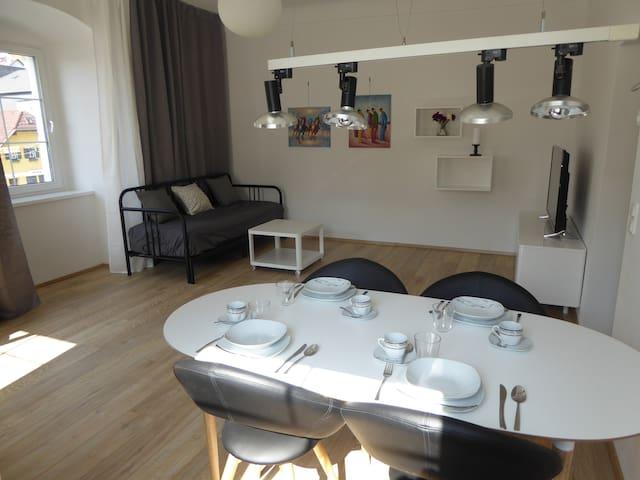 Moderne Altstadtwohnung mit Traunseeblick - Gmunden - Lägenhet