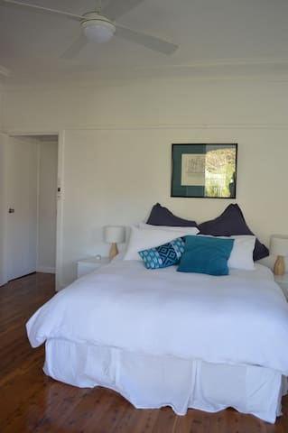 Queen double bed with own private ensuite bathroom.