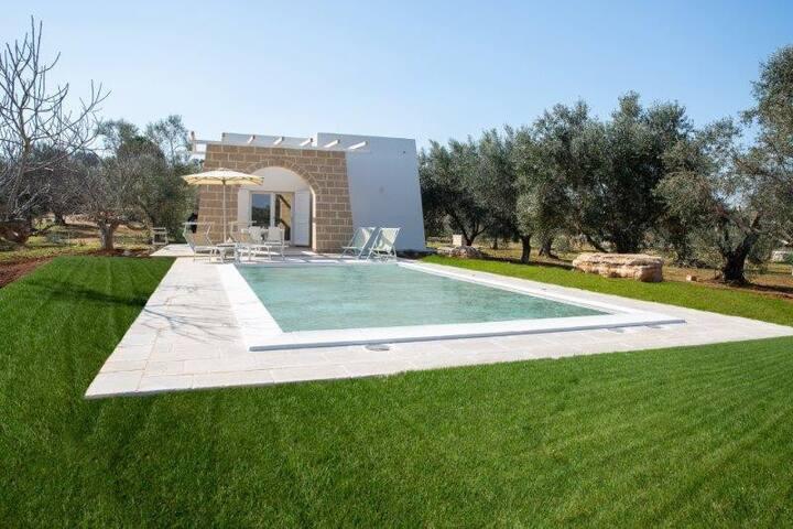 Villa Chiara con piscina, in uliveto