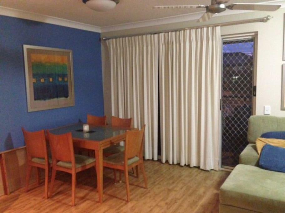 Dining Area, Door to Main Balcony