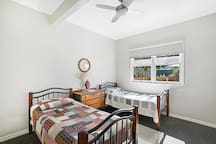 2 x single beds in 4th room